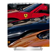 Supercars Ferrari Emblem Shower Curtain by Jill Reger