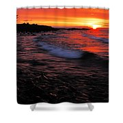 Superior Sunrise 2 Shower Curtain by Larry Ricker