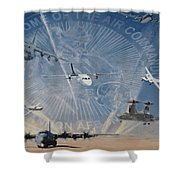 Superior Support Shower Curtain by Todd Krasovetz