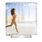 Surfer girl Shower Curtain by Sri Maiava Rusden - Printscapes