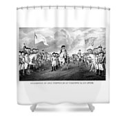 Surrender Of Lord Cornwallis At Yorktown Shower Curtain by War Is Hell Store