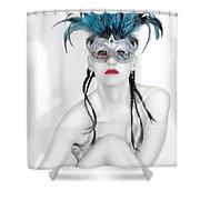Survivor - Self Portrait Shower Curtain by Jaeda DeWalt