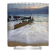 Swept Ashore Shower Curtain by Mike  Dawson