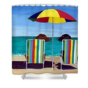 Swim Shower Curtain by Roger Wedegis