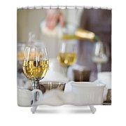 Table Setting Shower Curtain by Kati Molin