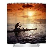 Tahiti, Papeete Shower Curtain by Joe Carini - Printscapes