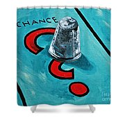 Taking A Chance Shower Curtain by Herschel Fall