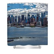 Taking A Free Ride Shower Curtain by Susan Candelario