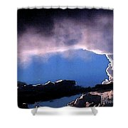 Talking To God Shower Curtain by Methune Hively