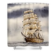Tall Ship Adventure Shower Curtain by James Williamson