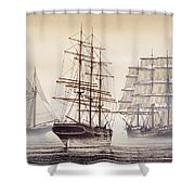 Tall Ships Shower Curtain by James Williamson