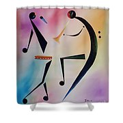 Tambourine Jam Shower Curtain by Ikahl Beckford