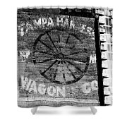 Tampa Harness Wagon N Company Shower Curtain by David Lee Thompson