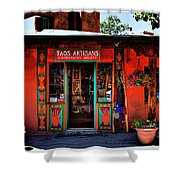 Taos Artisans Gallery Shower Curtain by David Patterson