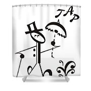 Tap Shower Curtain by Maria Watt