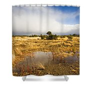 Tasmanian Storm  Shower Curtain by Mike  Dawson