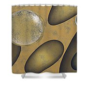 Tears Of Gold Shower Curtain by Richard Rizzo