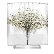technology Abstract Shower Curtain by Setsiri Silapasuwanchai