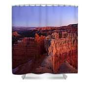 Temple Of The Setting Sun Shower Curtain by Mike  Dawson