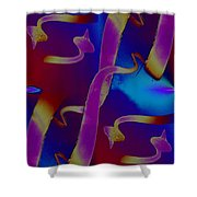 Tendrils To The Sky Shower Curtain by Tim Allen