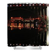 Tennessee River In Lights Shower Curtain by Douglas Stucky