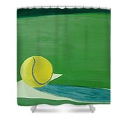 Tennis Reflections Shower Curtain by Ken Pursley
