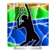 Tennis Shower Curtain by Stephen Younts