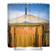 Tent In The Desert Ulaanbaatar, Mongolia Shower Curtain by David DuChemin