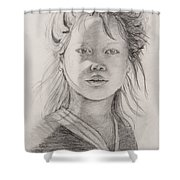 Thai Beauty Shower Curtain by Nadine Rippelmeyer