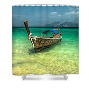 Thai Longboat Shower Curtain by Adrian Evans