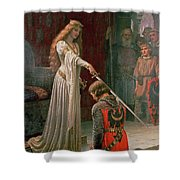 The Accolade Shower Curtain by Edmund Blair Leighton