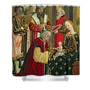 The Adoration Of The Magi Shower Curtain by Absolon Stumme