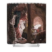The Adoration of the Wise Men Shower Curtain by Tissot