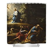The Agony in the Garden Shower Curtain by Guiseppe Cesari