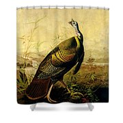 The American Wild Turkey Cock Shower Curtain by John James Audubon