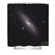 The Andromeda Galaxy Shower Curtain by Phillip Jones