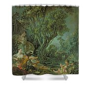 The Angler Shower Curtain by Francois Boucher