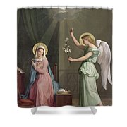 The Annunciation Shower Curtain by Auguste Pichon