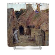 The Annunciation Shower Curtain by Luc Oliver Merson