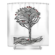 The Apple Tree Shower Curtain by Aniko Hencz