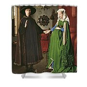 The Arnolfini Marriage Shower Curtain by Jan van Eyck