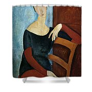 The Artist's Wife Shower Curtain by Amedeo Modigliani