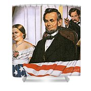 The Assassination of Abraham Lincoln Shower Curtain by John Keay
