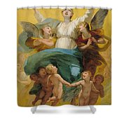 The Assumption Of The Virgin Shower Curtain by Pierre Paul Prudhon