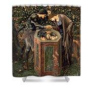 The Baleful Head Shower Curtain by Sir Edward Burne-Jones