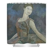 The Ballerina Shower Curtain by Steve Mitchell