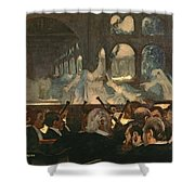 The Ballet Scene From Meyerbeer's Opera Robert Le Diable Shower Curtain by Edgar Degas