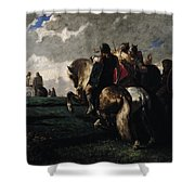 The Barbarians Before Rome Shower Curtain by Evariste Vital  Luminais