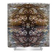 The Barking Yin Yang Shower Curtain by Clayton Bruster