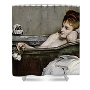 The Bath Shower Curtain by Alfred George Stevens